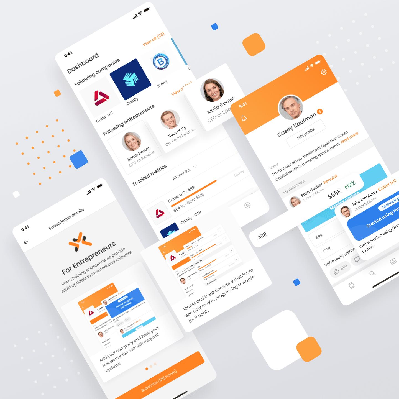 Pneura app - an entrepreneur network app designed and developed by Appello Software